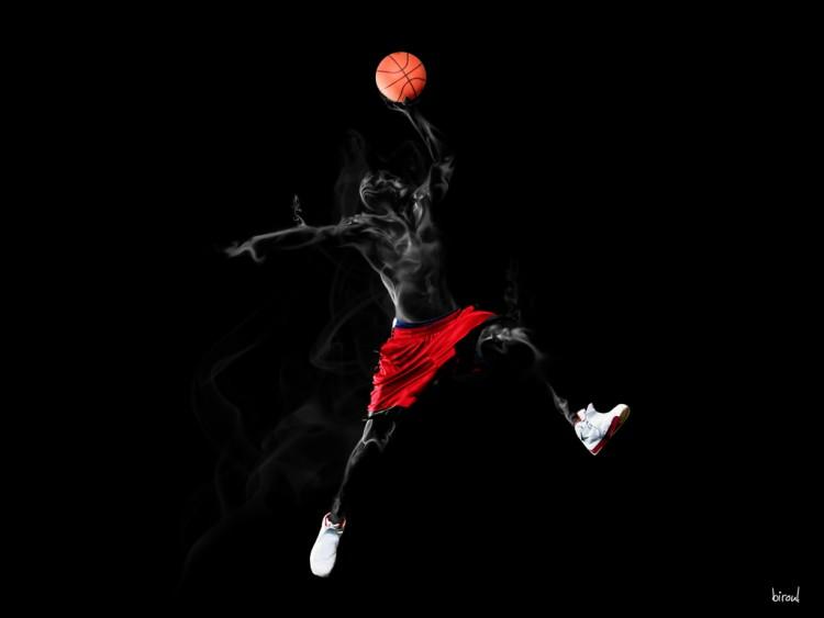 Fonds d'écran Sports - Loisirs Basketball basket smoke