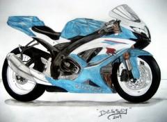 Fonds d'écran Art - Crayon Suzuki GSXR 600