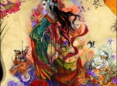 Wallpapers Digital Art Living Geisha