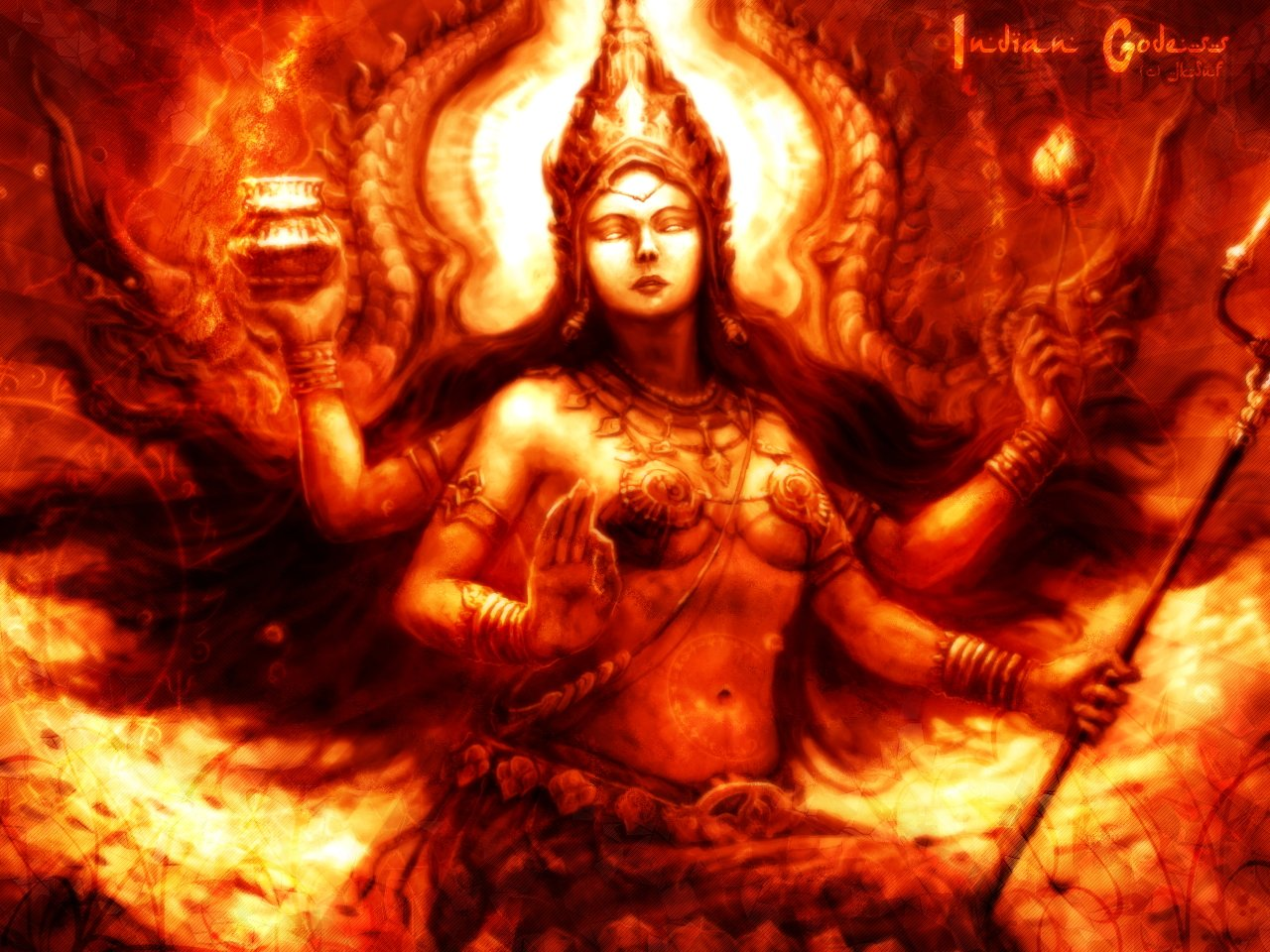 Wallpapers Fantasy and Science Fiction Gods - Goddesses Indian Godess