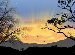 Fonds d'écran Art - Numérique Soleil levant
