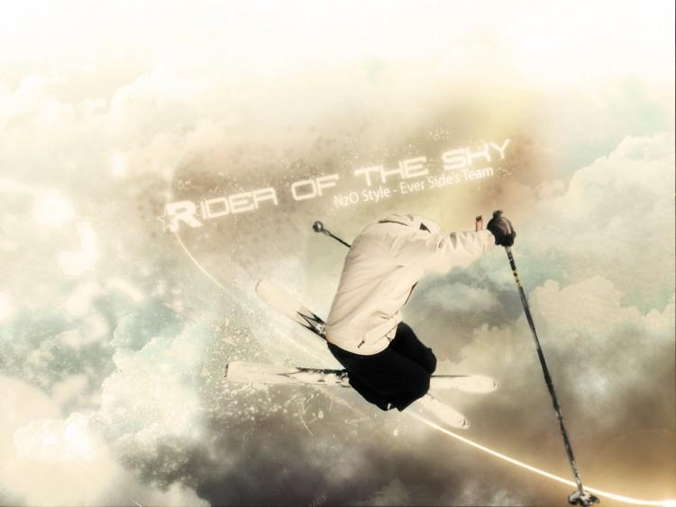 Fonds d'écran Sports - Loisirs Ski Rider of the sky