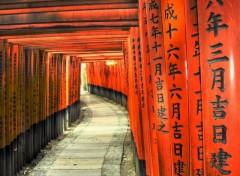 Fonds d'écran Voyages : Asie Rouge et noir japonais