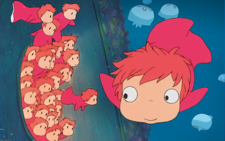 Wallpapers Cartoons Wallpapers Ponyo Ponyo Sur La Falaise By Subeh Hebus Com