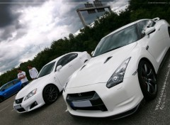 Wallpapers Cars Nissan GTR & Lexus IS-F
