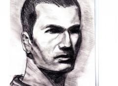 Fonds d'écran Art - Crayon Zidane