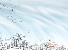 Fonds d'écran Art - Numérique City draw