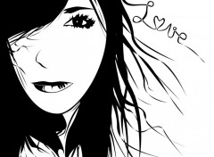 Wallpapers Digital Art Love in Black&White