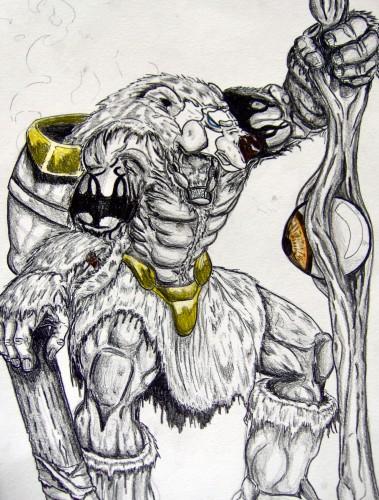 Wallpapers Art - Pencil Fantasy - Creatures Gardien du temps
