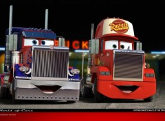 Wallpapers Cartoons Optimus meets Mack