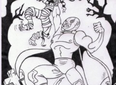 Fonds d'écran Art - Crayon supe heros