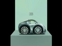 Fonds d'écran Voitures Min Bugatti sur Podium