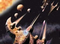 Fonds d'écran Art - Peinture bataille spatiale
