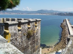 Fonds d'écran Nature Vue depuis la muraille de Baiona, Galicia.