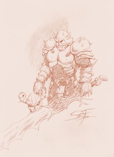 Fonds d'écran Art - Crayon Fantasy - Guerriers guerrier en armure lourde