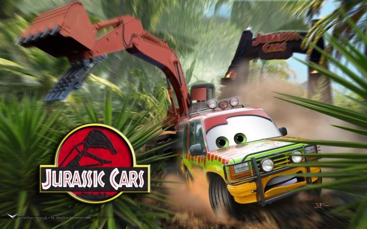 Fonds d'écran Dessins Animés Cars 1 et 2 Jurassic Cars