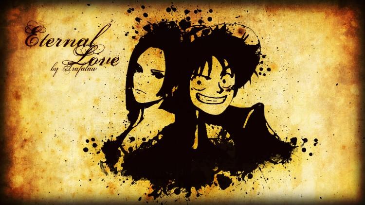 Fonds d'écran Manga One Piece Eternal Love Hancock-Luffy