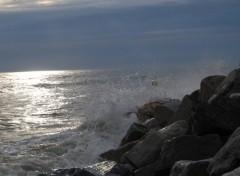 Fonds d'écran Nature soir de grande marée