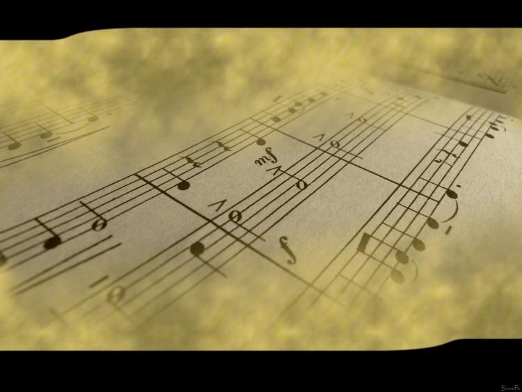 Fonds d'écran Musique Divers Partition