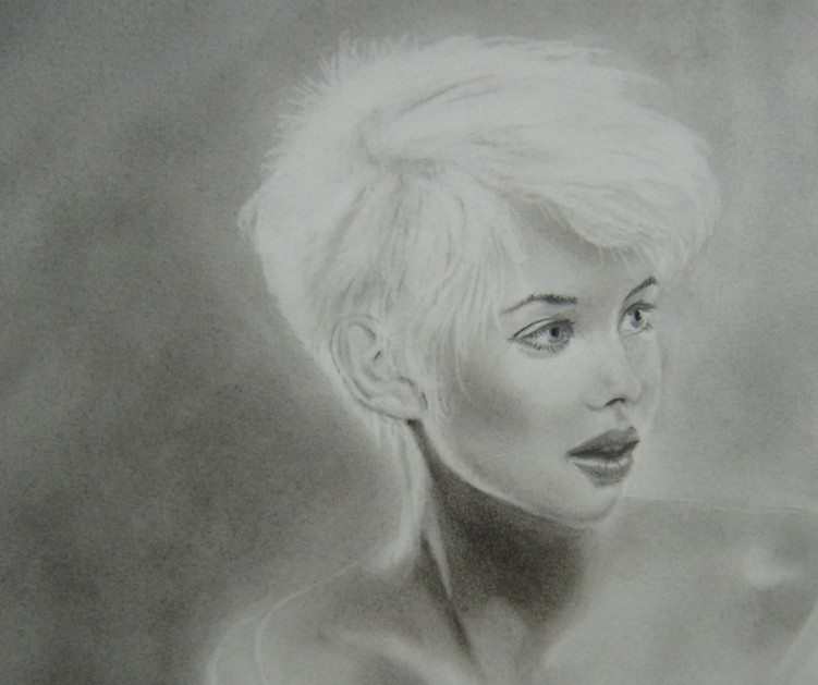 Wallpapers Art - Pencil Portraits Blonde
