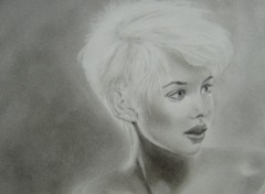 Fonds d'écran Art - Crayon Blonde