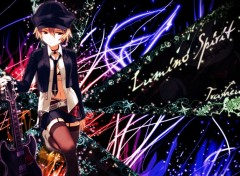 Fonds d'écran Manga lumino musique