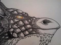 Wallpapers Art - Painting Portrait de Dragon