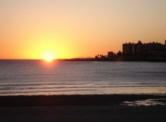 Wallpapers Trips : South America Couché de soleil sur Montevideo