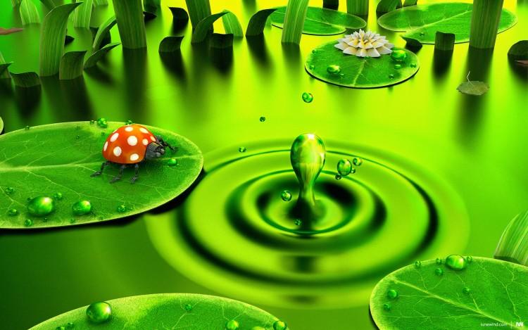 Fonds d'écran Art - Numérique Nature - Divers Green Dawn