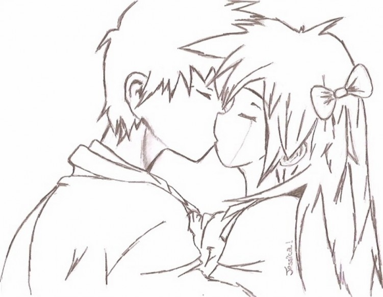 Wallpapers Art - Pencil Love - Friendship manga love