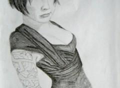 Wallpapers Art - Pencil Akemi - suicide girl