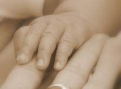 Fonds d'écran Hommes - Evênements Petite main de bébé et ma main
