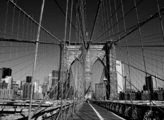 Fonds d'écran Constructions et architecture Brooklyn Bridge in B&W