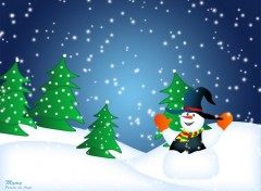 Wallpapers Digital Art Wall Snowman