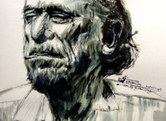 Wallpapers Art - Painting Charles Bukowski
