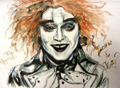 Wallpapers Art - Painting Johnny Depp Chapelier Fou Mad Hatter