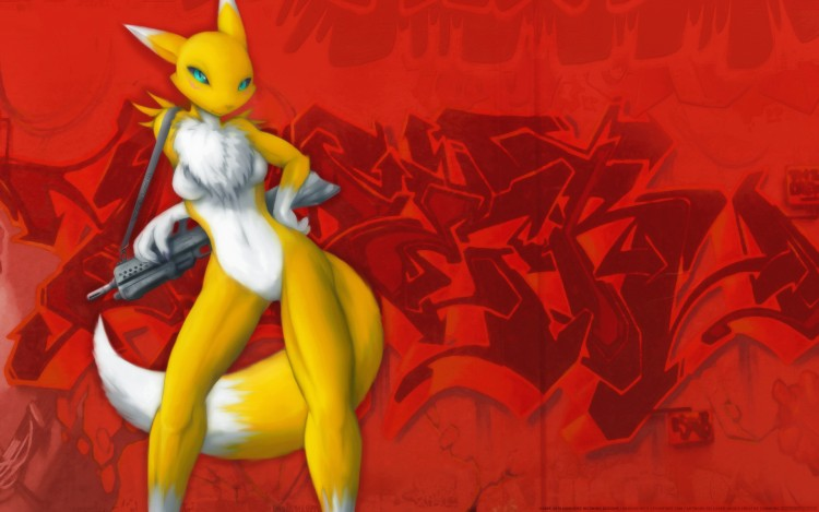 Fonds d'écran Manga Character Design Gunslinger Fox 2.0 : Urban Strike Renamon !