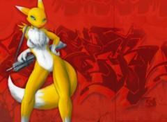 Fonds d'écran Manga Gunslinger Fox 2.0 : Urban Strike Renamon !