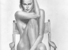 Wallpapers Art - Pencil Charlize Theron