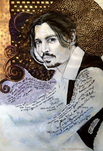 Wallpapers Art - Painting Portraits - Faces Johnny Depp #01