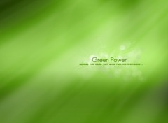 Wallpapers Digital Art Green Power