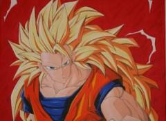 Fonds d'écran Art - Peinture sangoku super sayan 3