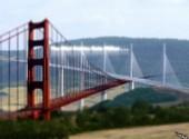 Fonds d'écran Art - Numérique The Mini Golden Gate Millau created by krimecity.digital created by krimecity.digital