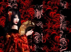 Wallpapers Digital Art Geisha