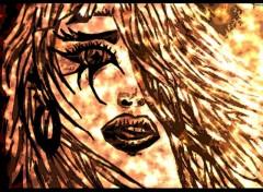 Fonds d'écran Art - Peinture dessin portrait visage femme par moi ^^