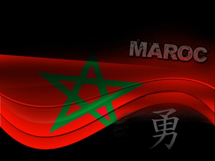 Fonds d'écran Art - Numérique Voyage - Drapeaux Maroc