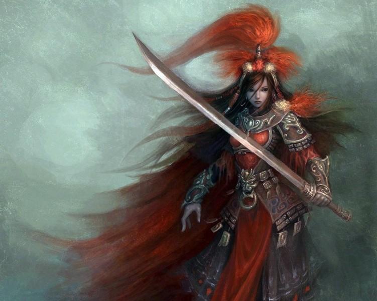 Fonds d'écran Fantasy et Science Fiction Guerriers - Guerrières Samouraï girl