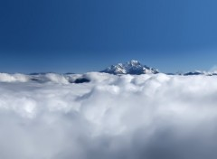 Fonds d'écran Nature Le Mont Blanc au dessus des Nuages