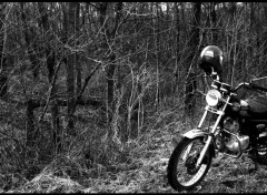 Wallpapers Motorbikes paysage avec moto motocyclette