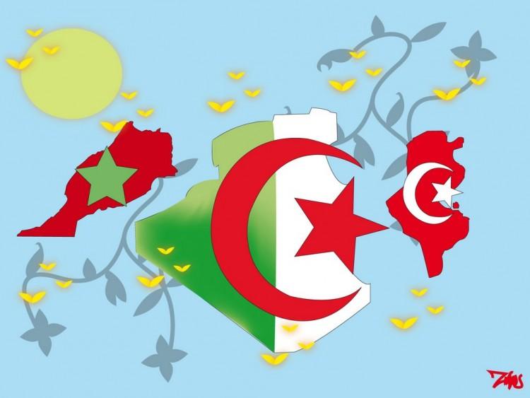 Fonds d'écran Art - Numérique Voyage - Drapeaux Maghreb united